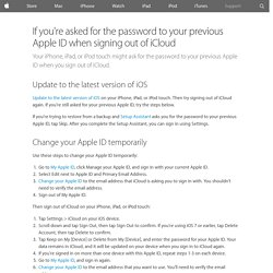 If you're asked for the password to your previous Apple ID when signing out of iCloud