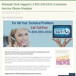 Recover Hotmail account password by dialing hotmail password recovery phone number