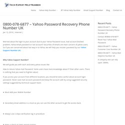 0800-078-6877 - Yahoo Password Recovery Phone Number UK