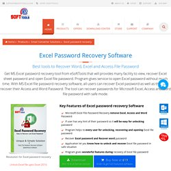Excel Password Recovery Recover Word, Access, XLSX Password