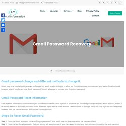 Gmail Password Recovery with Gmail Security