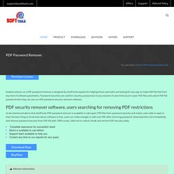 PDF Password Remover Informal to Remove PDF Password