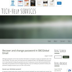 Recover and change password in SBCGlobal Email