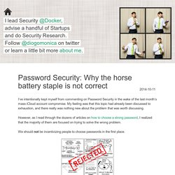 Password Security: Why the horse battery staple is not correct