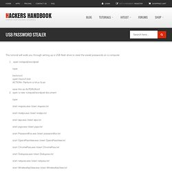 USB password stealer | Hackers Handbook