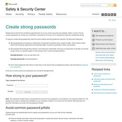 Password Checker: Using Strong Passwords | Microsoft Security