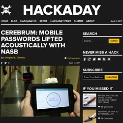 Cerebrum: Mobile Passwords Lifted Acoustically with NASB