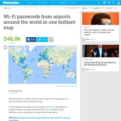 Wi-Fi passwords from airports around the world in one brilliant map
