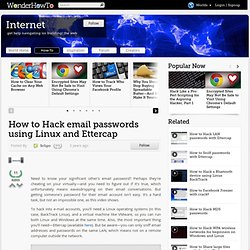 How to hack email passwords using Linux and Ettercap