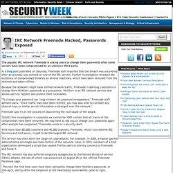 IRC Network Freenode Hacked, Passwords Exposed