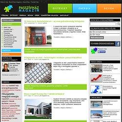 Passzívház magazin: passzív ház, aktív ház tervezés, építés
