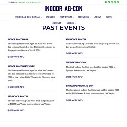 PAST EVENTS - Indoor Ag-Con