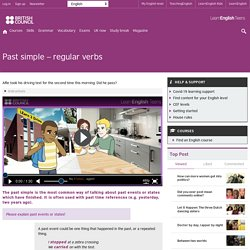 Past simple – regular verbs