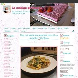 One pot pasta aux légumes verts et au roquefort ( Cookeo)