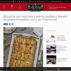 Directo al Paladar - Bizcocho con manzana y crema pastelera. Receta de postre irresistible con y sin Thermomix