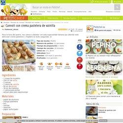 Cannoli con crema pastelera de vainilla, Receta Petitchef