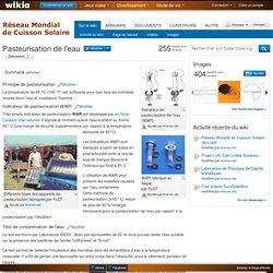 Pasteurisation de l'eau - Solar Cooking