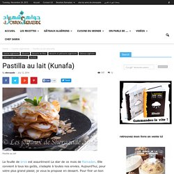 Pastilla au lait (Kunafa)