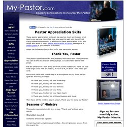 Pastor Appreciation Skits
