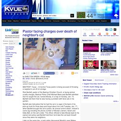 Pastor facing charges over death of neighbor's cat