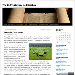 The Old Testament as Literature