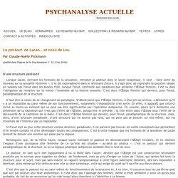 Le pastout de Lacan… et celui de Lou - PSYCHANALYSE ACTUELLE