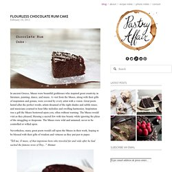Flourless Chocolate Rum Cake