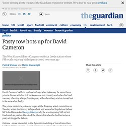 Pasty row hots up for David Cameron