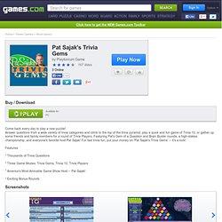 Pat Sajak's Trivia Gems | Play Pat Sajak's Trivia Gems Free Online | Games.com UK