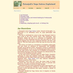 Patanjali's Yoga Sutras Explained - A Gold Scales Book
