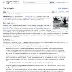'Pataphysics