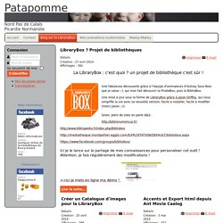 Patapomme - Blog sur la LibraryBox