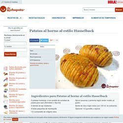 Patatas al horno al estilo Hasselback