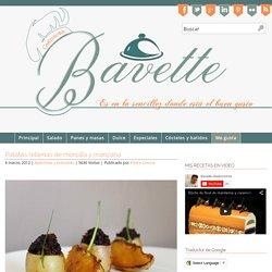 Patatas rellenas de morcilla y manzana Bavette