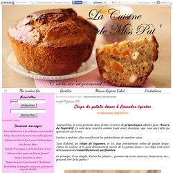 Chips de patate douce & Amandes épicées - La cuisine bio de Miss Pat'