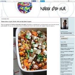 Patate douce et pois chiche rôtis au tofu fumé (vegan)