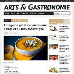 Potage de patates douces aux poires et au bleu d'Auvergne