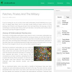 Patches, Pirates And The Military
