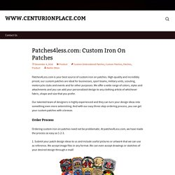 Patches4less.com: Custom Iron On Patches