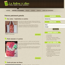 Patrons patchwork gratuits - La bobine à idées : loisirs créatifs, cuisine, économies...