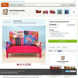 floral Wing Backpatchwork sofa by namedesignstudio on Etsy