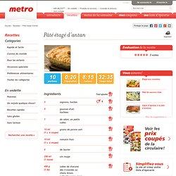Pâté étagé d'antan- Recettes Metro