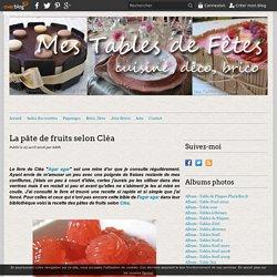 La pâte de fruits selon Cléa - Mes tables de Fêtes
