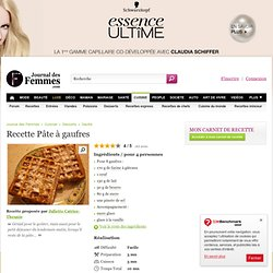 Gaufres pearltrees - Pate a gaufre cyril lignac ...