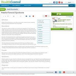Patello-Femoral Syndrome - Symptoms, Treatment and Prevention