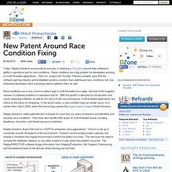 New Patent Around Race Condition Fixing