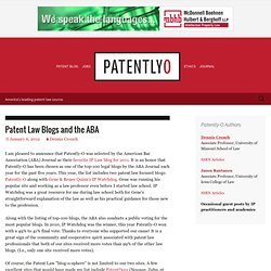 Patent Law Blogs and the ABA