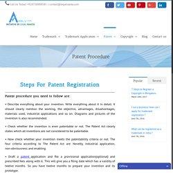Patent Procedure in India