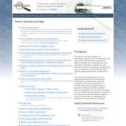 Patent Tutorials and FAQs