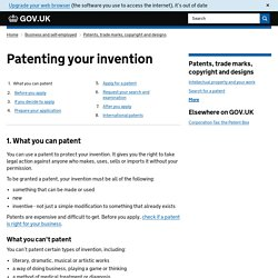 Patenting your invention